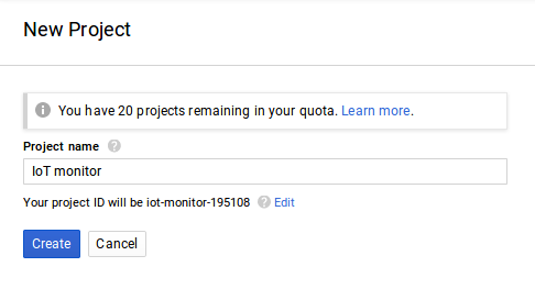 bigquery new project