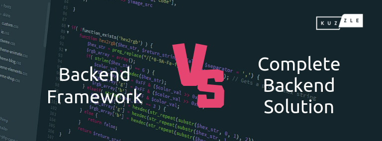 Backend clé en main VS Framework