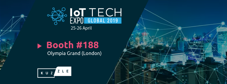 Meet Kuzzle team at IoT Tech Expo London 2019